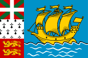 The flag for St Pierre and Miquelon